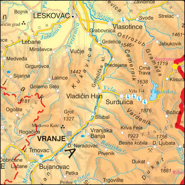 fizičko geografska karta srbije Školska fizičko geografska zidna karta fizičko geografska karta srbije