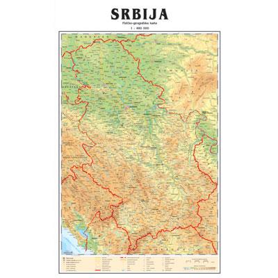 cela karta srbije Školska fizičko geografska zidna karta cela karta srbije